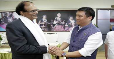 Defence Secretary G M Kumar meets CM Pema Khandu