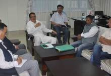 Photo of Dy CM Discuss Issues related to Chandranagar – Banderdewa Four Lane Highway