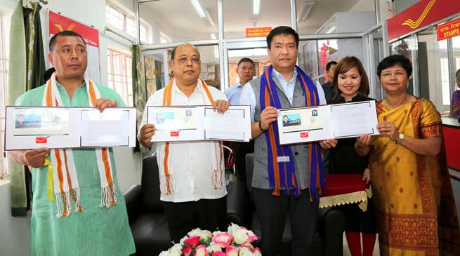 Arunachal postal department Releases special cover on former CM late Dorjee Khandu