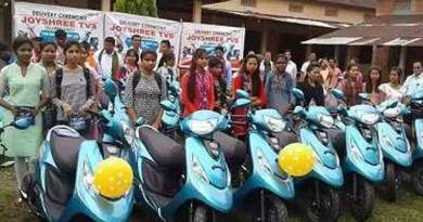 Bodoland Girl Students gets Scooty