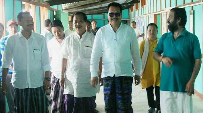 Chowna Mein Visits RSS Officier Training Camp at Manmaw village