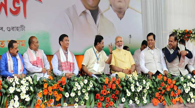 Pema Khandu joines celebration of 3 years of Modi Government