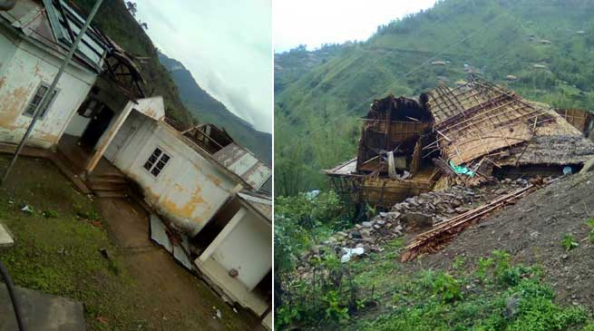 Khandu Concern over Damage at Wakka due to Storm