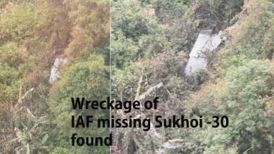Photo of Wreckage of IAF missing Sukhoi -30 fighter jet found