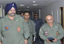 Photo of Air Chief on a 2 days visit to Eastern Air Command HQ