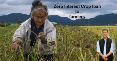 Arunachal- Zero Interest Crop loan to farmers