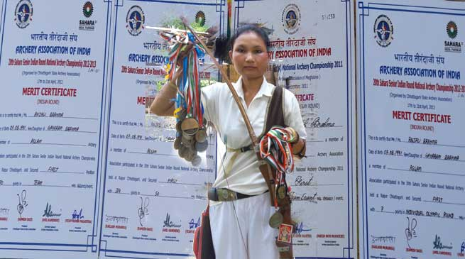 National Archery Gold Medalist Anjali Brahma seeks govt help