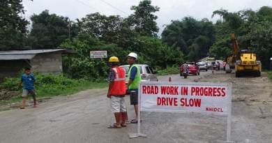 Bage Tinali-Doimukh road under temporary repairing
