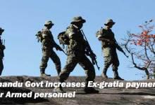 Khandu Govt increases Ex-gratia payment for Armed personnel