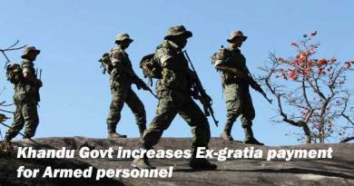 Khandu Govt increases Ex-gratia payment for Armed personnel