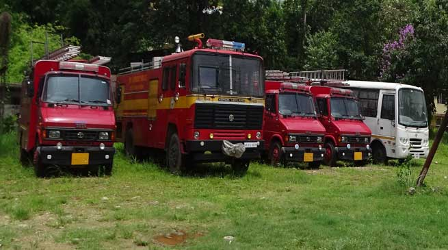 Fire Brigade and Rescue Van standing idle