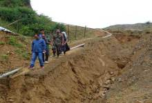 Photo of Techi Kaso inspected damaged roads and Landslide  in Itanagar