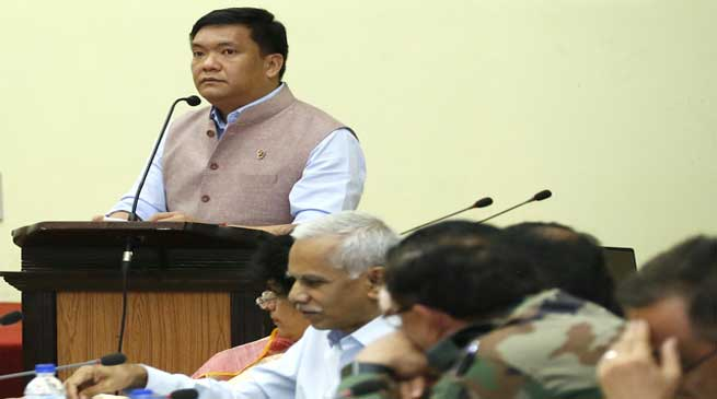 khandu stressed on need to develop Tirap, Changlang and longding