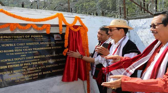Khandu dedicates Pasighat-Roing-Tezu transmission systems to the State
