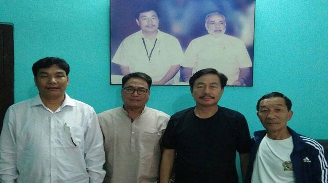 PPA leaders meet State BJP President Tapir Gao