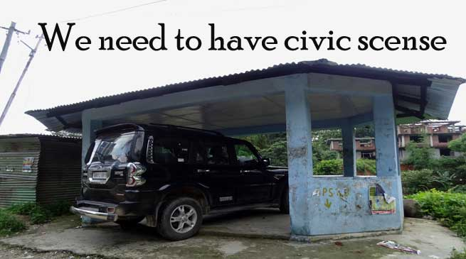 "Photo Shows- ""We need civic sense"""