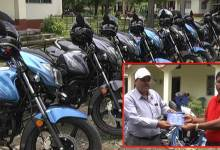 Photo of BTC Veterinary Doctors gets Motor Bike from Council