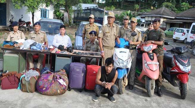 Aalo police bursts Major burglary case