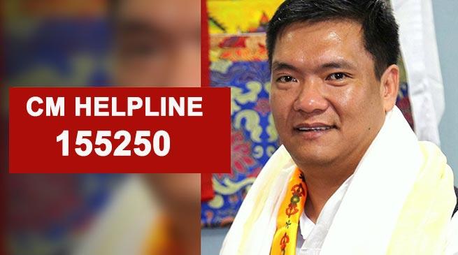 Khandu launches Chief Minister Helpline 155250