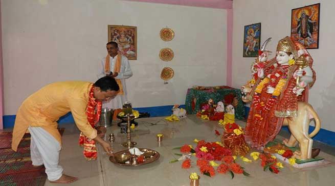 Consecration of goddess Maa Durga idol