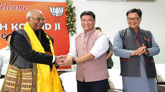 NDA's Presidential Candidate Ram Nath Kovind Visits Arunachal