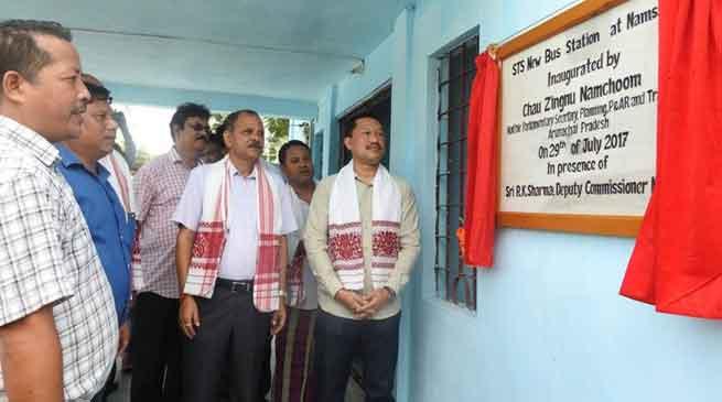 Zingnu Namchoom inaugurates APST Bus station