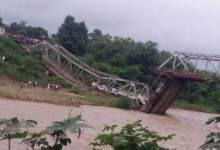 Photo Story- 4 killed as Bridge Collapsed in Nagaland
