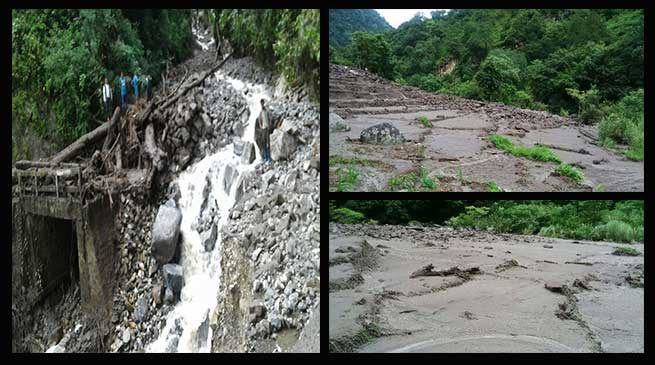 Tawang- Landslide created untold miseries in Mukto Constituency
