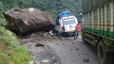 Photo of Boulder hit Tata Sumo in West Kameng- 7 Injured