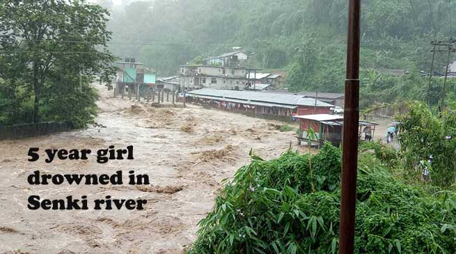 5 year girl drowned in Senki river,  Massive landslide all over state
