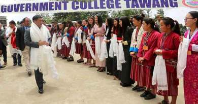 Tawang- CM Pema Khandu visits Government College