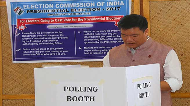Lawmakers in Arunachal cast vote for presidential Election