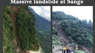 Photo of Massive landslide at Sange in West Kameng dist