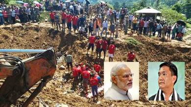laptap land slide: PM Modi discussed incident with CM Khandu