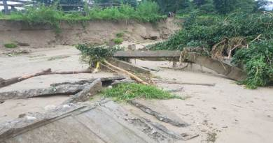Rafting canter at Sangdupota washed away in flood