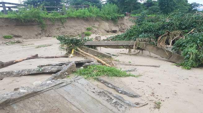 Rafting canter at Sangdupota washed away in flood