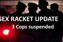 Sex Racket update- 3 Cops suspend after allege leakage of  Sex workers photo in social media