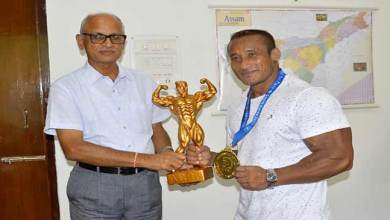 Photo of Arambam Bobby Singh of NF Railway secure gold medal