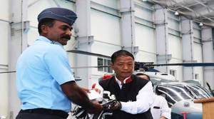 Felix handed overs cheque of Rs 50 lakhs each to the next of kin of the departed soldiers