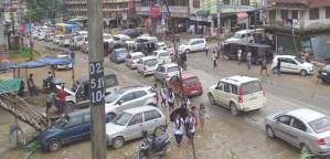 Twin city face unprecedented traffic jam owing to whistle down strike by ITW