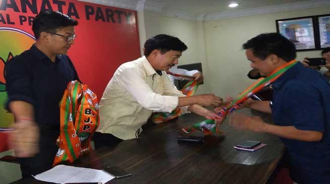APYC president Jikke Tako Joins BJP