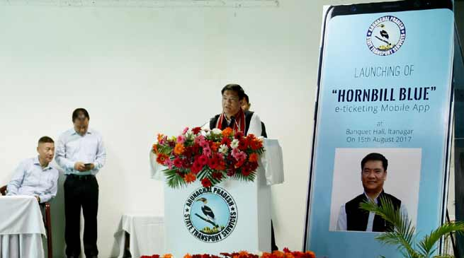 Khandu launches Hornbill Blue, e-ticketing Mbl App