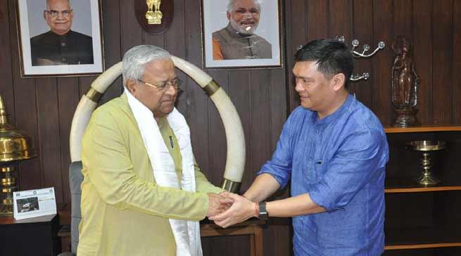 CM Khandu meets with Guv Acharya