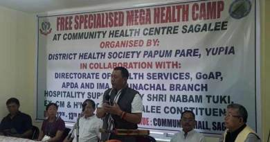Sagalee- Phurpa inaugurates two days mega health camp
