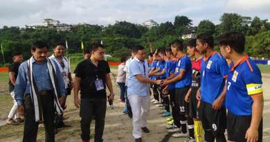 Nyamar Karbak kick off state level teachers  trophy