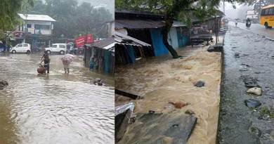 Bhalukpong township submerge in Artificial flood due to heavy rain