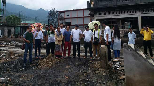 DUA contributes relief to fire victim at Daporijo