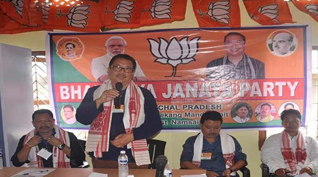 Namsai- Chowna Mein inaugurates BJP mandal office at Mahadevpur