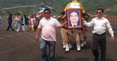 Arunachal Guv PB Acharya condoles the demise of Jomde Kena