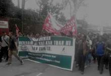 Photo of Mizo Students Union organised rally demanding deportation of Chakma Foreigners